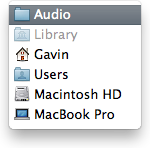 User Audio Folder